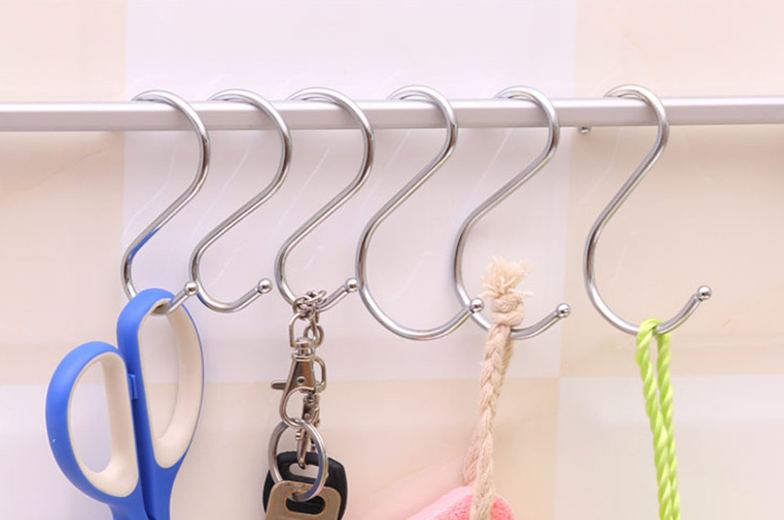 Giantstar 20 Pack  Heavy Duty S Hooks Kitchen Pot Pan Hanger Clothes Storage Rack Size:Large (20pcs/L) by Giant star (Image #3)