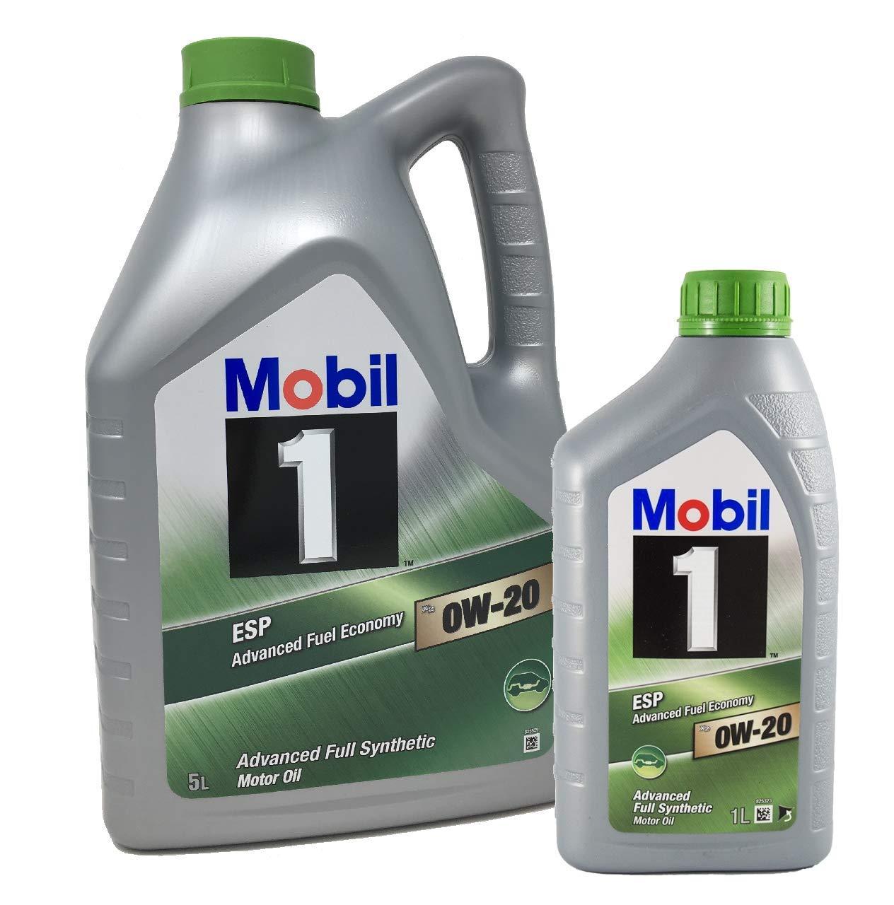 Mobil 1 Aceite para Motor ESP x2 0W-20 Advanced Fuel Economy, Pack ...