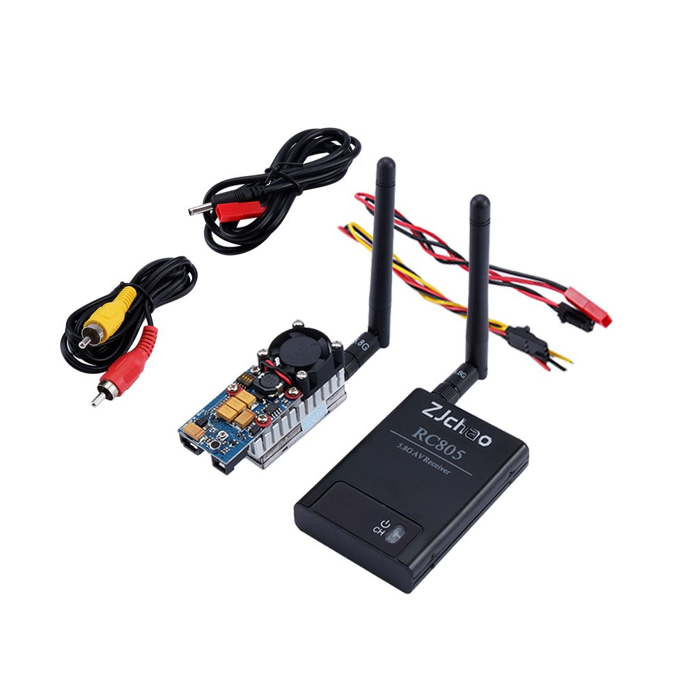 ZJchao 8ch 5.8g 1000mw Video Audio Transmitter Tx 5km + 5.8ghz Reciver for FPV by ZJchao