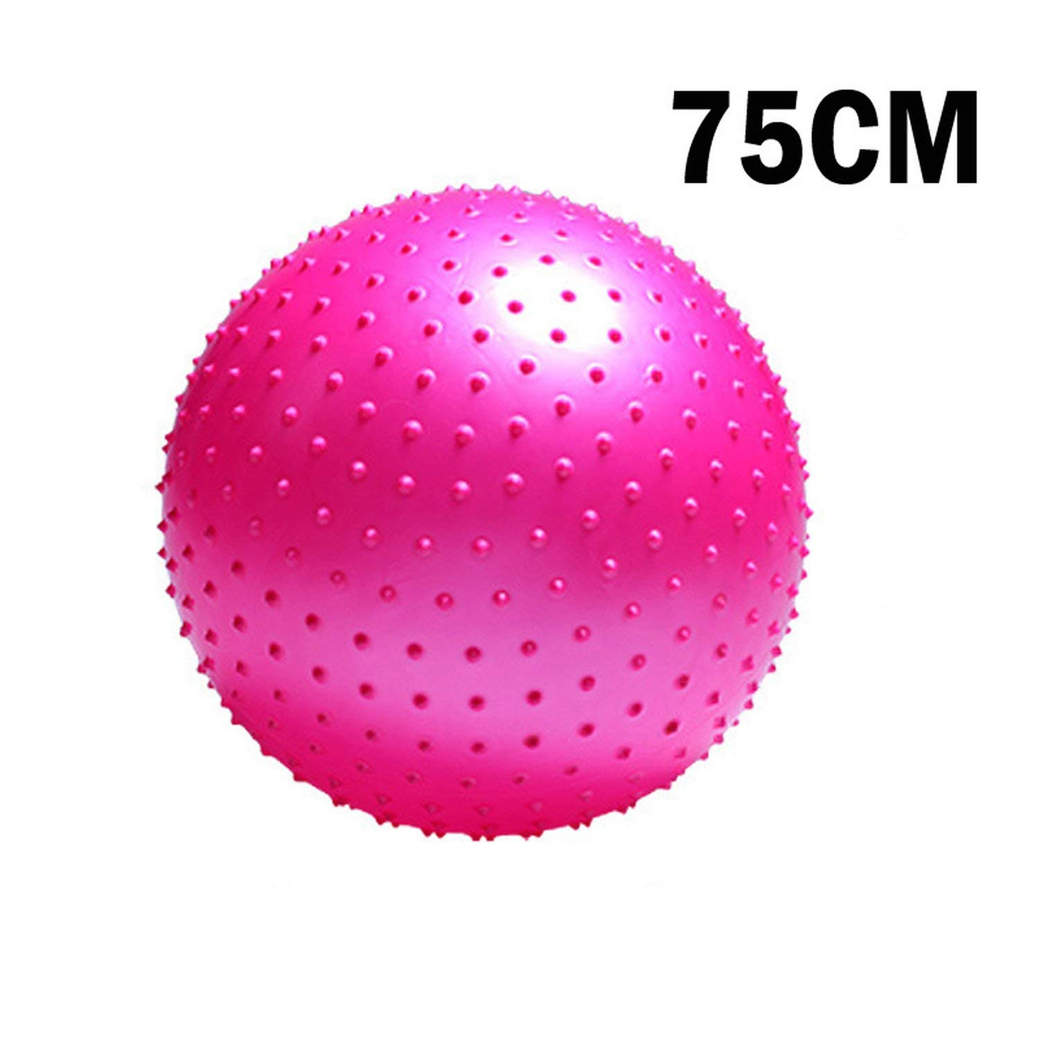 75CM Pink One Size Sports Yoga Ball Point Fitness Gym Balance Ball Exercise Workout Barbed Massage Ball 55cm 65cm 75cm 85cm