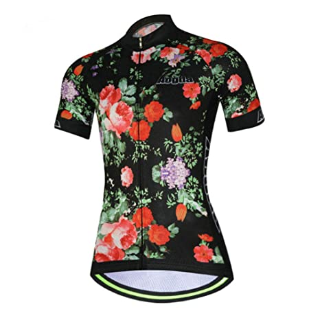 14a5cb3a Womens Cycling Jersey Aogda Short Sleeve 3D Silicon Padded Girls Bicycle  Shorts Outdoor Sport Bike Cycle Clothing/Shirt D914
