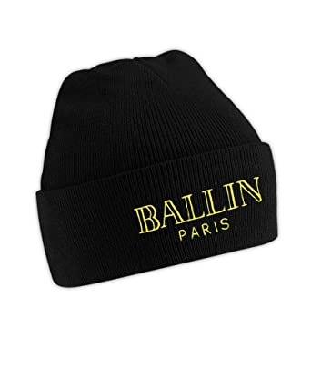 512d952698a Ballin Paris Beanie Hat Snapback Clothing Headwear  Amazon.co.uk  Clothing