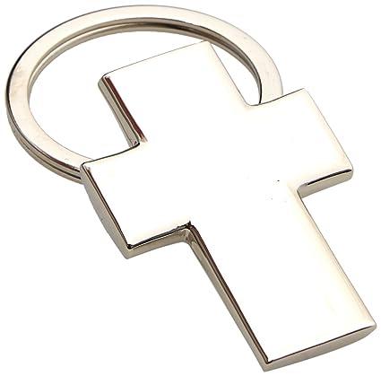 Mopec M639 - Llavero de metal con forma de cruz para comunión, pack de 10 unidades