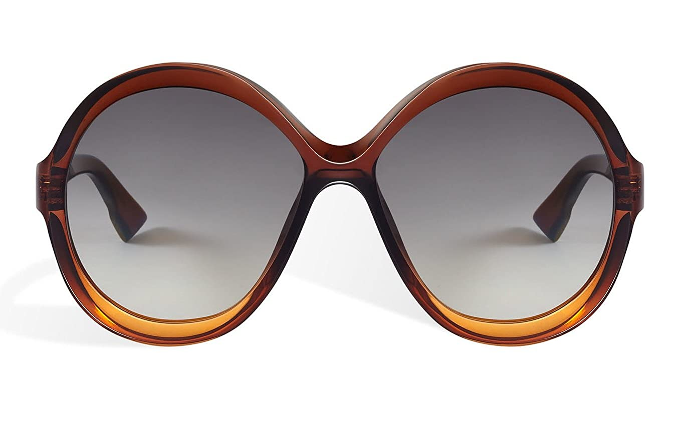 f2e68a1561 Amazon.com  Dior bianca - Brown Orange 012J Sunglasses  Clothing