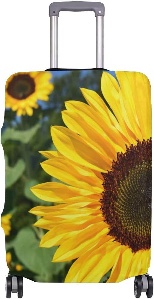 Nanmma Cute 3D Sunflower Pattern Luggage Protector Travel Luggage Cover Trolley Case Protective Cover Fits 18-32 Inch