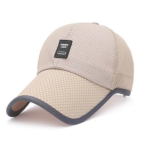 MAOCAP Sombrero de Verano Hombre de Malla de Secado rápido Casquillo Gorra  de béisbol e4d3326ccfe