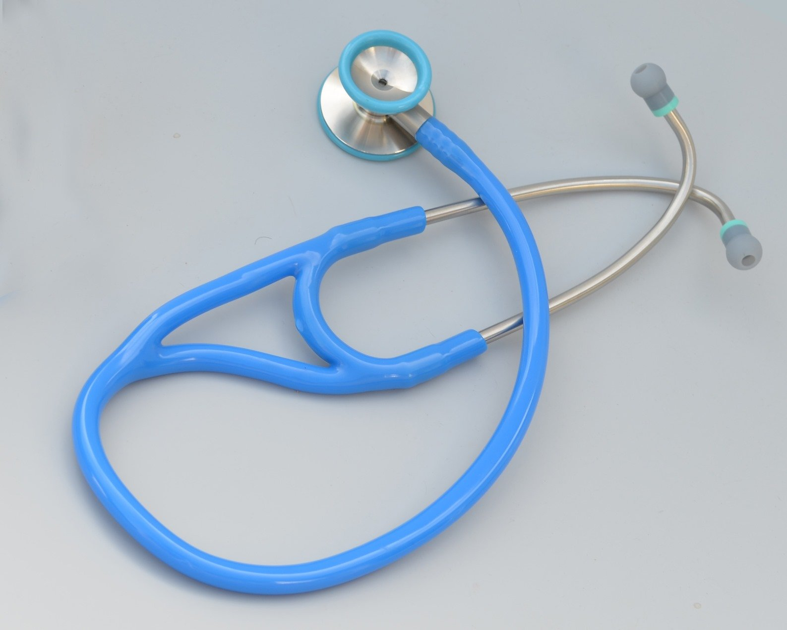 Kila Scopes KL770 Cardiac Dual Head Steel Stethoscope with Bell - SkyBlue