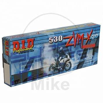 offen mit Nietschloss 108 Glieder DID Kette 530 ZVMX X-Ring gold