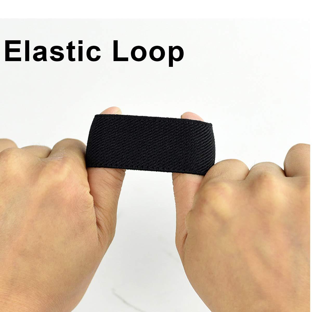 Hoanan Nylon Elastic Belt Loop Keeper for 1.25//1.5inch Wide Belts
