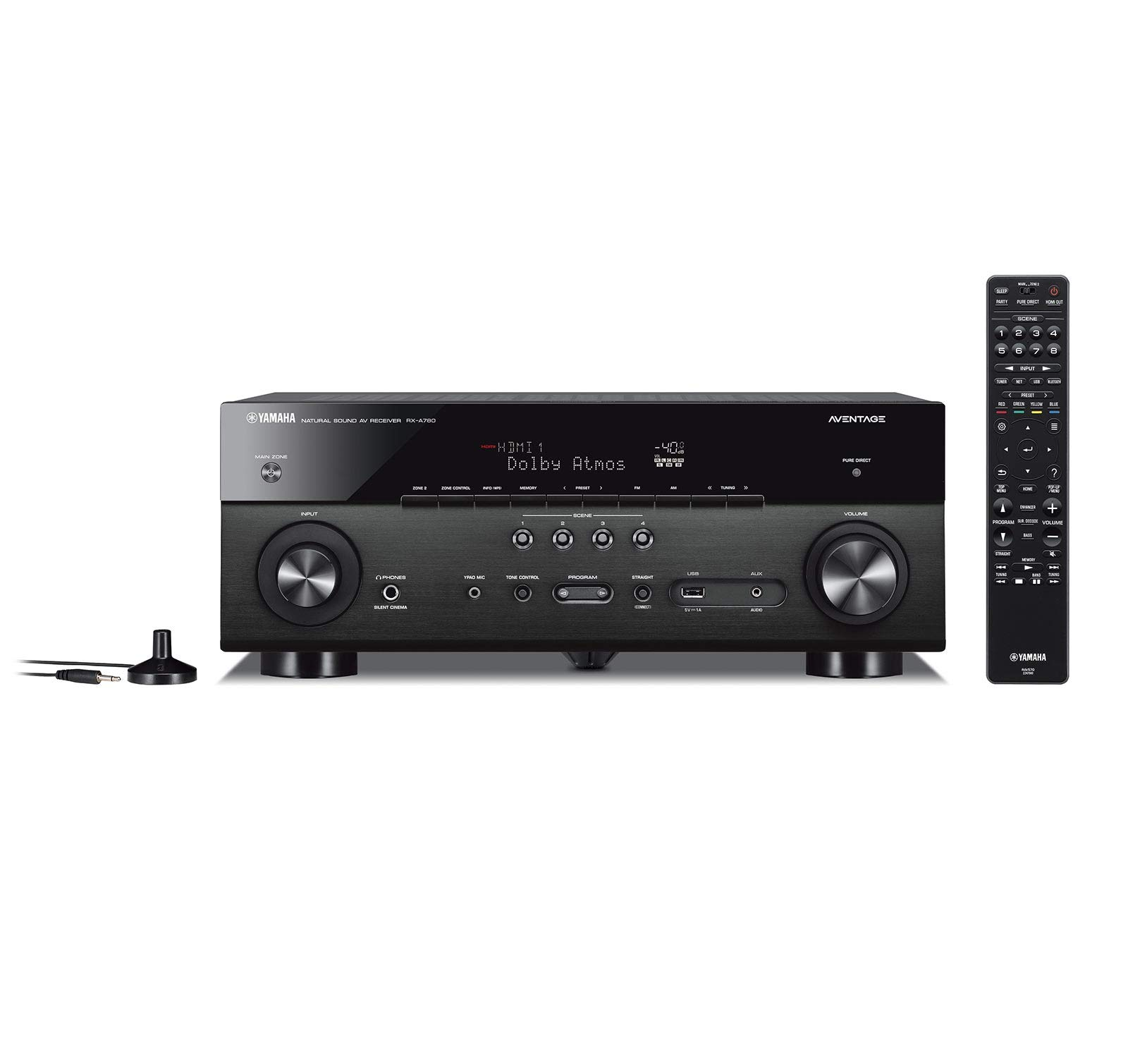 Yamaha RX-A780 AVENTAGE 7.2-Channel AV Receiver with MusicCast - Black (Renewed) by Yamaha