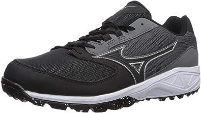 Mizuno Mens Dominant All Surface Low Turf Shoe Baseball, Charcoal ...