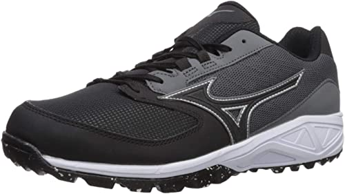 Mizuno Mens Dominant All Surface Low Turf Shoe Baseball, Charcoal ...