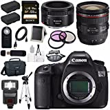 Canon EOS 5DS-R 5DSR DSLR Camera + EF 24-70mm f/4L IS USM Lens + Canon EF 50mm f/1.8 STM Lens + LPE-6 Lithium Ion Battery + Canon 100ES EOS shoulder bag Bundle 11