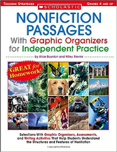 Nonfiction Passages With Graphic Organizers For