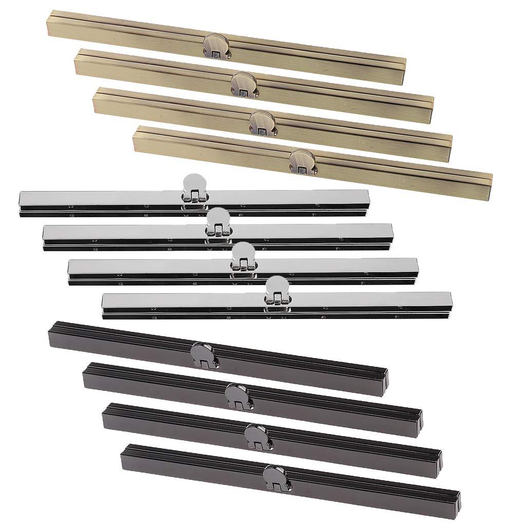 CUTICATE 12pcs/Pack DIY Coin Purse Frames Bar Edge Wallet Bag Clasps Handcrafts Metal Hardware 19cm by CUTICATE