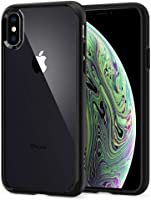 Spigen Ultra Hybrid with Air Cushion Technology and Hybrid Drop Protection Designed for Apple iPhone Xs Case (2018) / Designed for Apple iPhone X Case (2017) - Matte Black