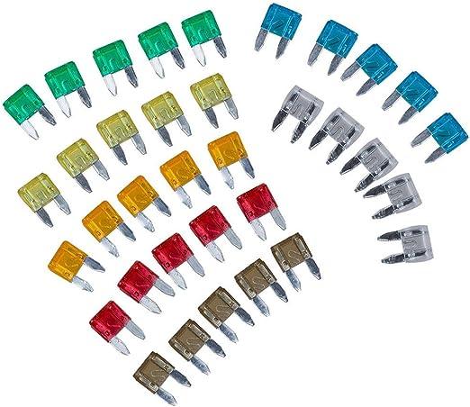 60pcs Mixed Mini Blade Fuses for Car Truck Assortment Kit 5A 10A 15A 20A 25A 30A