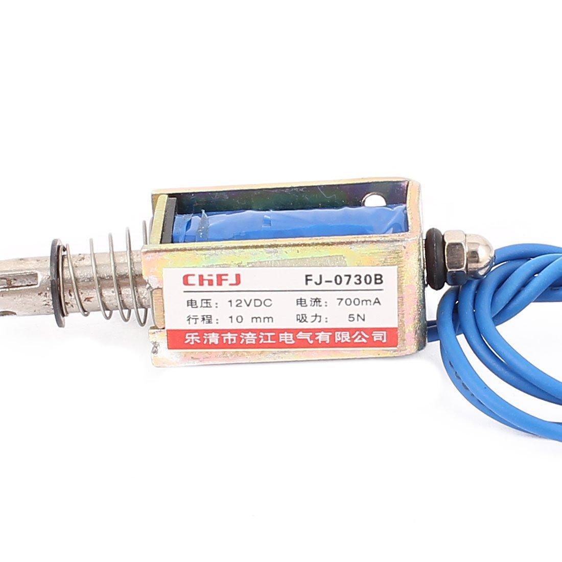 Amazon.com: eDealMax DC12V 700mA 10 millimetri 5N Primavera del carico Push Pull attuatore elettromagnete solenoide FJ-0730B: Home & Kitchen
