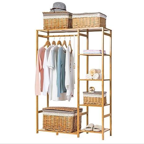 Amazon.com: Simple perchero de madera maciza/piso Coat Rack ...
