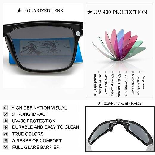 Amazon.com: Clip-on anteojos de sol anti-glare protección ...