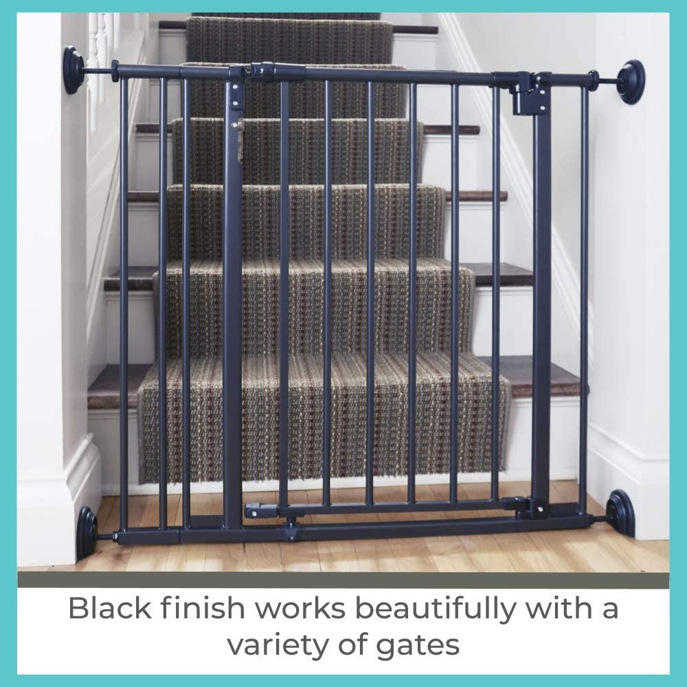 Pack of 4, Black Toddleroo by North States Baby Safety Gate Wall Guards: Provides extra safety and stability for most pressure mounted gates Pressure or Hardware mount. Protects walls from damage
