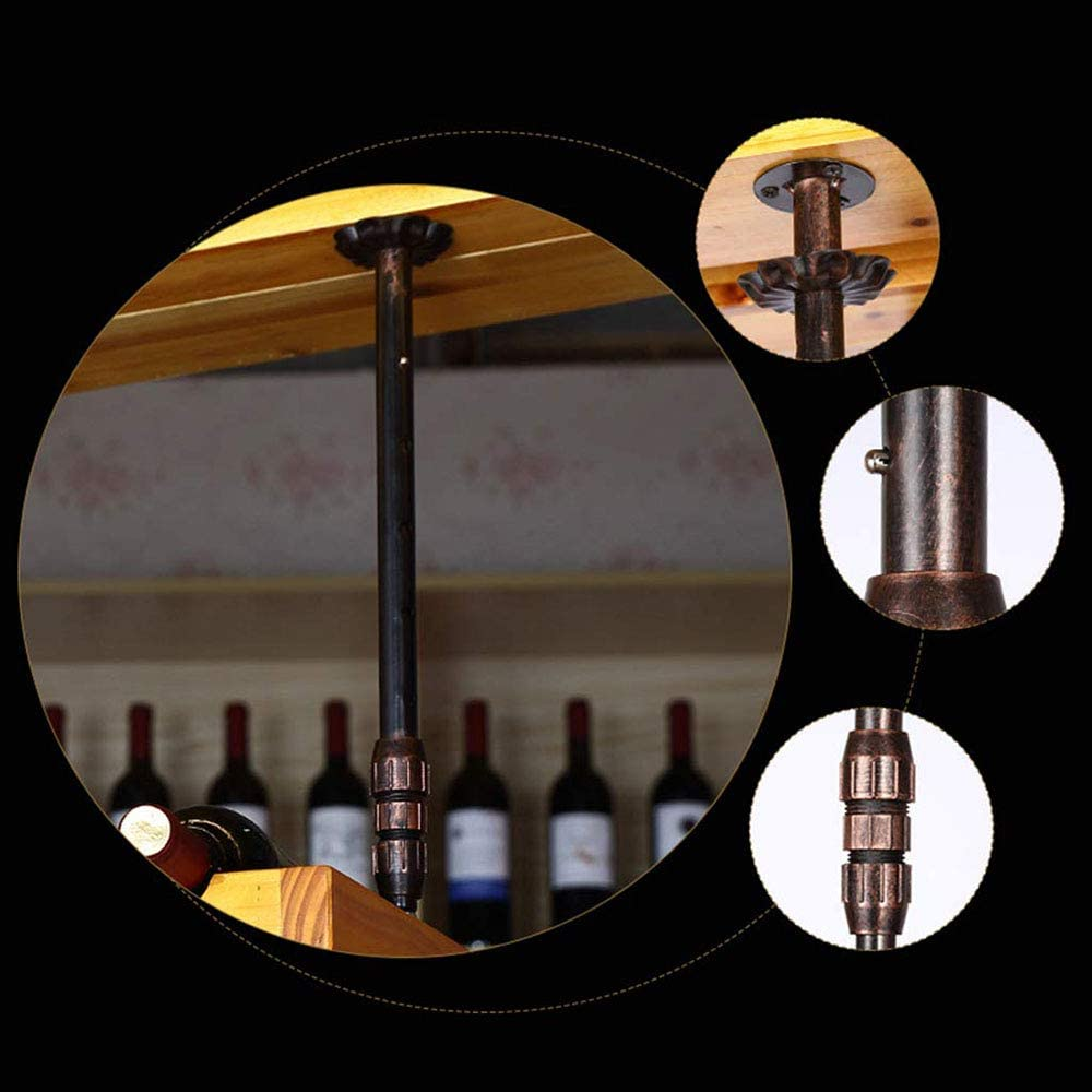 JIAYIBAO Wall Mount Wine Rack,Hanging Wine Bottle Holder,Wine Rack,Suitable for Restaurants,Bars,Kitchens Bronze