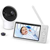 "Baby Monitor, eufy Security SpaceView Video Baby Monitor, 5"" LCD Display, 720p HD Resolution, Wide-Angle Lens Included…"