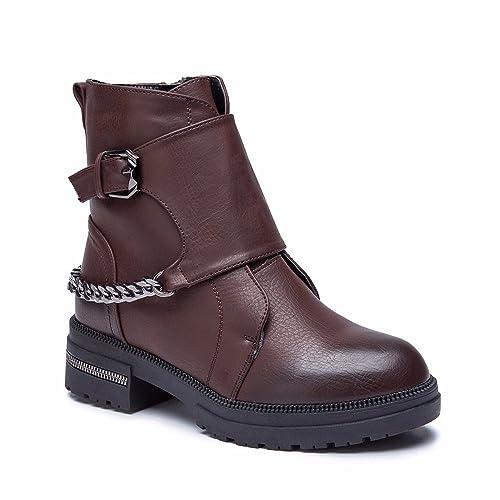 Cestfini Moda Mujer Botines Planos Invierno,Zapatos Mujer Causal con Pelusa 04BR40: Amazon.es: Zapatos y complementos
