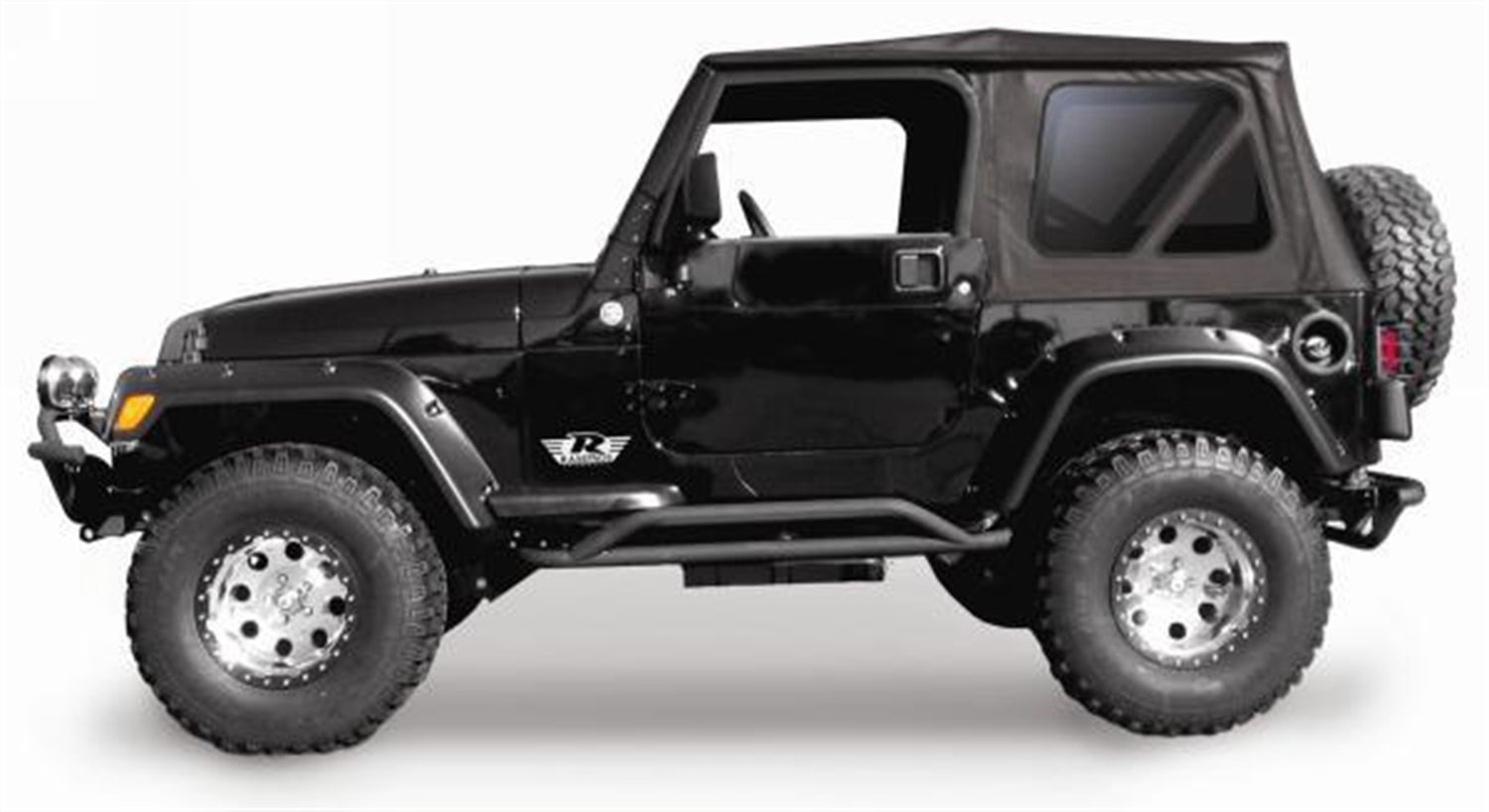 Amazon.com: RAMPAGE PRODUCTS 68835 Complete Soft Top with Frame & Hardware  for 1997-2006 Jeep Wrangler TJ, with Full Steel Doors (no soft upper  doors), ...