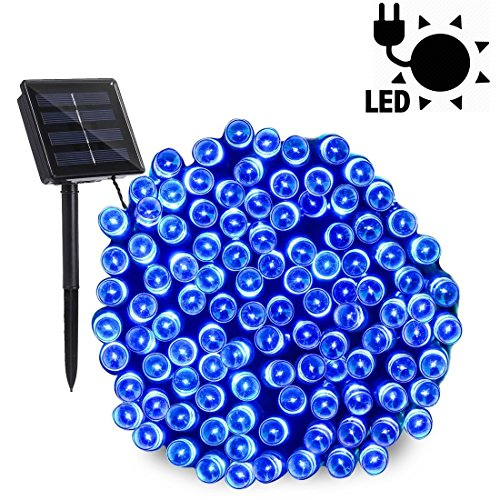 Blue Solar Garden Fairy Lights in US - 7