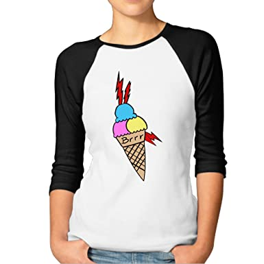 ab13eb84 Amazon.com: Women Gucci Mane Ice Cream Tattoo Baseball Raglan Shirts 3  Quarter Sleeve Tee: Clothing