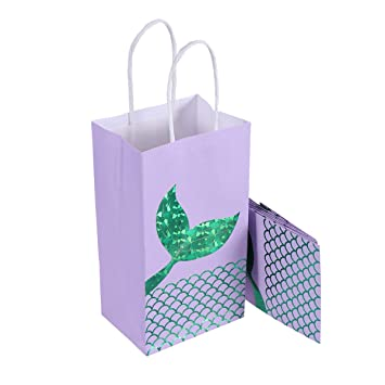 Amazon.es: STOBOK Bolsas de Regalo de Sirena para decoración ...