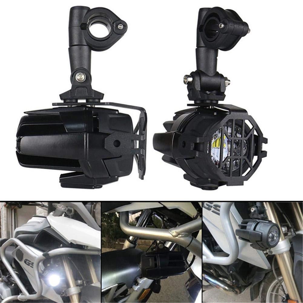 Phares Auxiliaires /À LED avec Supports en M/étal Bo/îtier en Aluminium Moul/é pour Camion Moto BMW BMW Urben Life Phares Antibrouillard De Moto Pack De 2