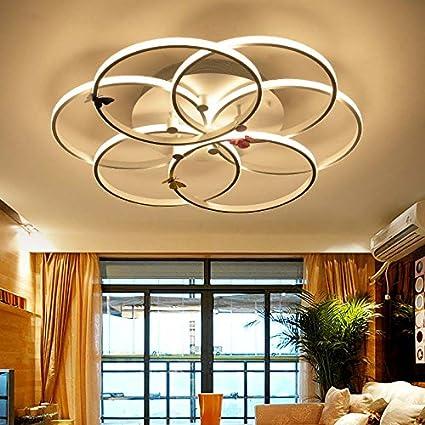 Hzcczx Creatividad Moderna Simple Cinco Anillos Lámparas De ...