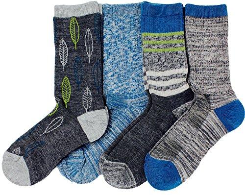 (Kirkland Signature Ladies' Trail Socks Merino Wool (Blue), 4 Pairs, Fits Shoe Size: 4-10.5)