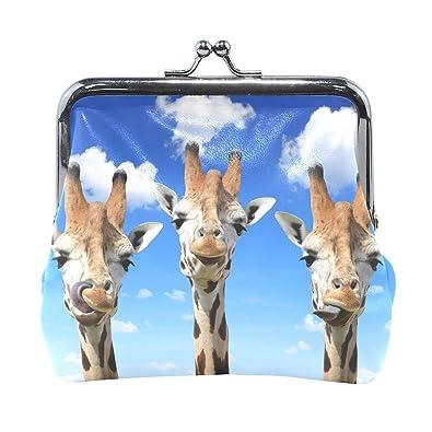Amazon.com: Animal - Monedero de piel de jirafa con cierre ...