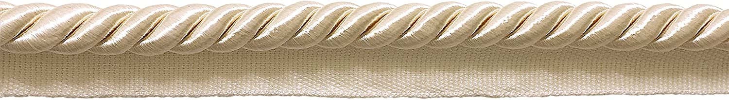 D/ÉCOPRO 10 Yard Value Pack of Large 3//8 inch Basic Trim Lip Cord Ivory A2 0038S Color