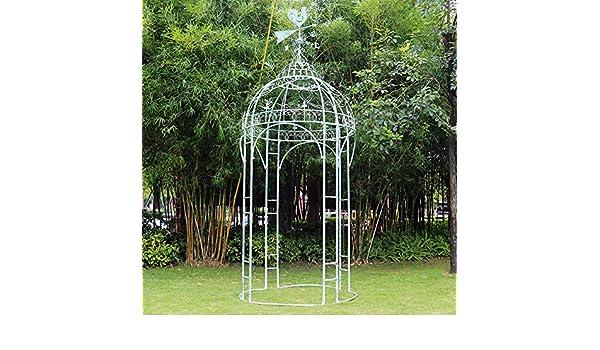GAIGAI - Gazebo de alta resistencia retro, estilo francés, pérgola, pérgola, pérgola, pérgola, arco, arbor, plantas, soporte para bodas, jardín, patio, escalada, rosas, óxido verde: Amazon.es: Jardín