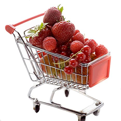Color Aleatorio Isuper Mini Carrito de Compras Supermarket Handcart Shopping Utility Carro de Modo de Almacenamiento de Juguetes