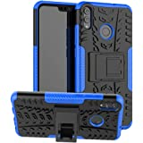 Huawei Honor 8X,9X Lite Case, Yiakeng Dual Layer Shockproof Wallet Slim Protective with Kickstand Hard Phone Case Cover for H