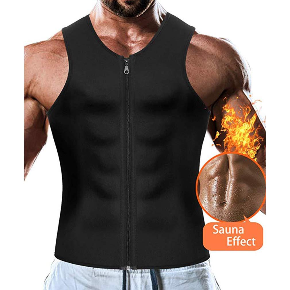 AidShunN M/änner Taille Trainer Weste Neopren Abnehmen Body Shaper Sport f/ür Gewichtsverlust Body Shaper Sauna Tank Top