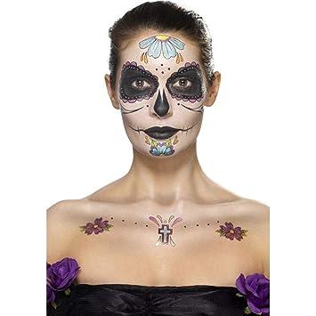 Smiffys - Día de Muertos, Kit Muerto con Tatuaje para la Cara ...