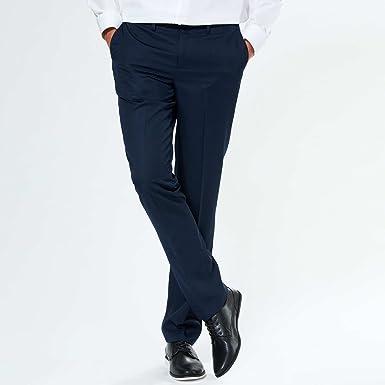 a530a0a293d38 KIABI Pantalon de costume slim en twill bleu navy 38: Amazon.fr ...
