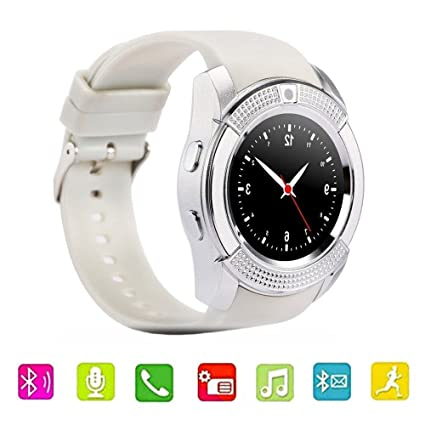 DXABLE V8 Reloj Inteligente, Deportes Fitness Tracker Bluetooth Reloj de Pulsera con Tarjeta SIM y