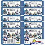 2018 Panini NFL Football Stickers Collection with 10 Factory Sealed Sticker Packs & 50 MINT Stickers! Look for Stickers of NFL Superstars & Rookies Including Tom Brady,Todd Gurley,Aaron Rodgers & More