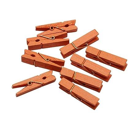 Zay 100 Stück Weihnachts Clips Aus Holz Für Weihnachten Hanf Clips