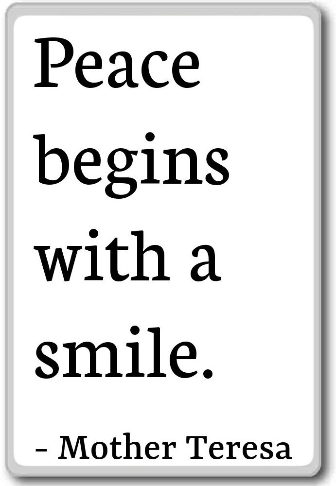 Amazon Peace Begins With A Smile Mother Teresa Quotes Fridge