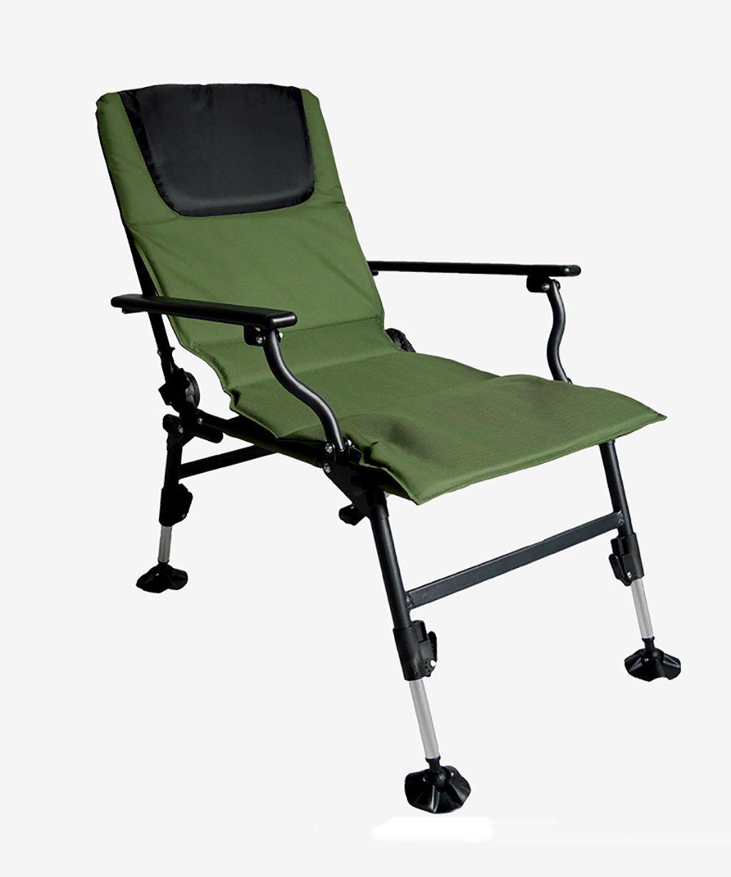 LIQICAI 釣り椅子 プロの陸軍グリーン折り畳み釣りの椅子ビーチチェア鯉の釣りアクセサリーガーデンパティオ屋外ポータブル チェア B078V8JVGW