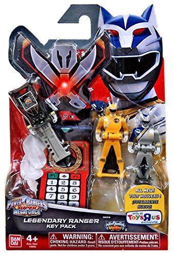 Ranger Key (Power Rangers Super Megaforce - Wild Force Legendary Ranger Key Pack, Black/Yellow/Silver)