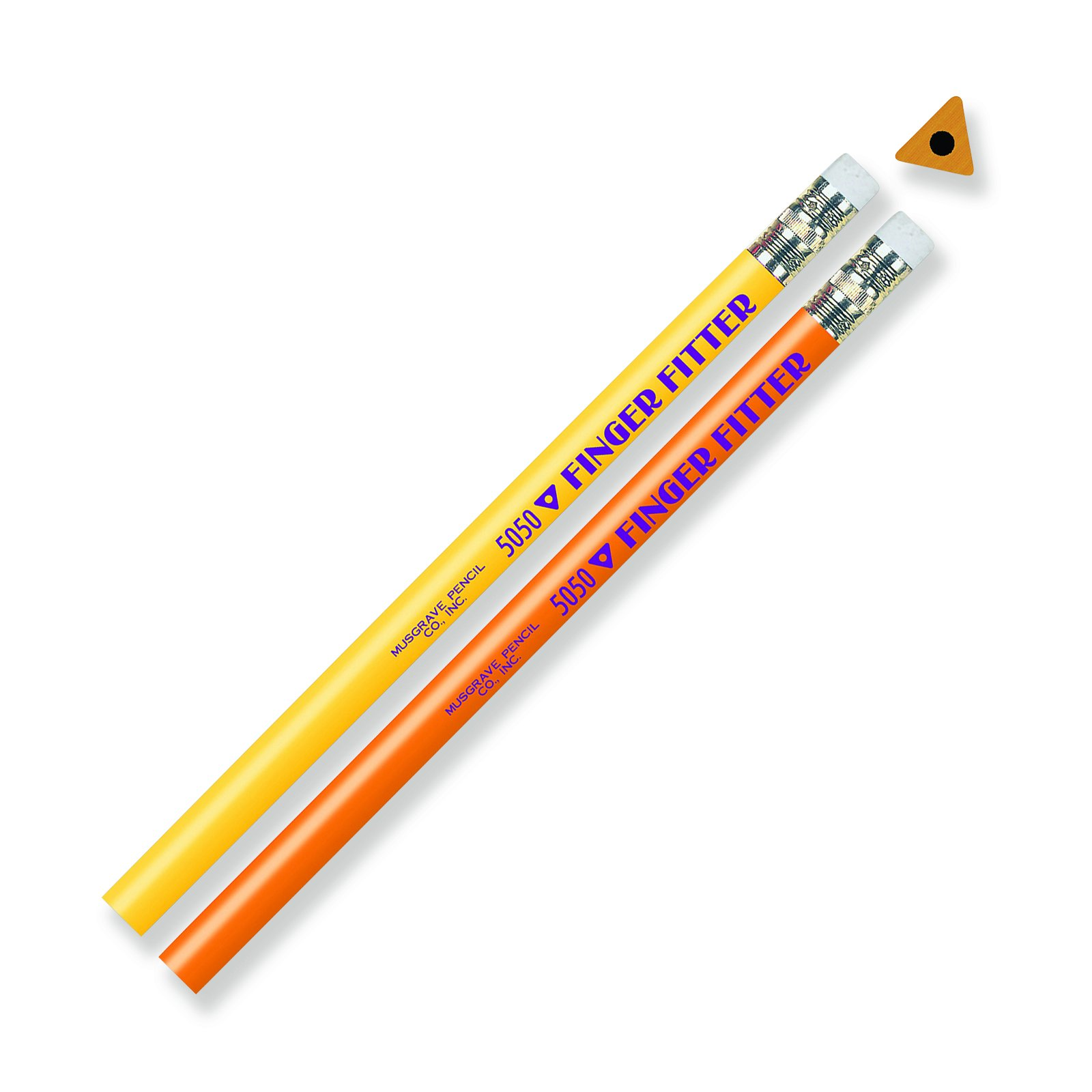 Musgrave Pencil Company MUS5050TBN Finger Fitter Pencils, 12 Per Pack, 6 Packs
